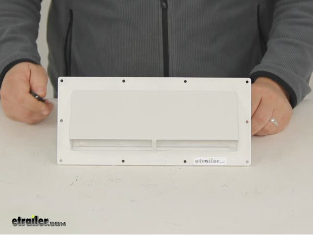 Hvac White Exterior Wall Vent Ducted