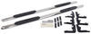 """Westin PRO TRAXX Oval Nerf Bars - 4"""" - Polished Stainless Steel Fixed Step 21-23940"""