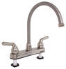 RV Kitchen Faucet - Dual Teacup Handle - Satin Nickel Satin Nickel 277-000014
