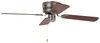 "42"" Hugger Style RV Ceiling Fan for RVs - Brushed Chrome No Light 277-000082"