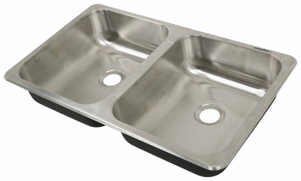 "25"" x 15"" Double Bowl Sink - Stainless Steel 25 x 15 Inch 277-000601"