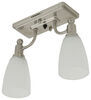 Gustafson RV Ceiling Light - Satin Nickel - 2 Arm - Frosted White Glass Satin Nickel 277-000401