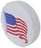 "Adco US Flag Spare Tire Cover - 32-1/4"" Diameter - Vinyl - White 32-1/4 Inch Tires 290-1782"