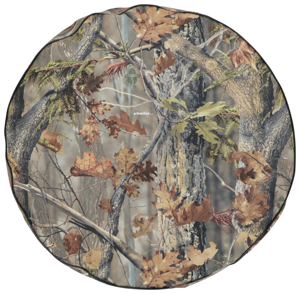 "Adco Spare Tire Cover - 27"" Diameter - Thermoplastic Polymer - Camouflage Spare Tire Cover 290-8757"
