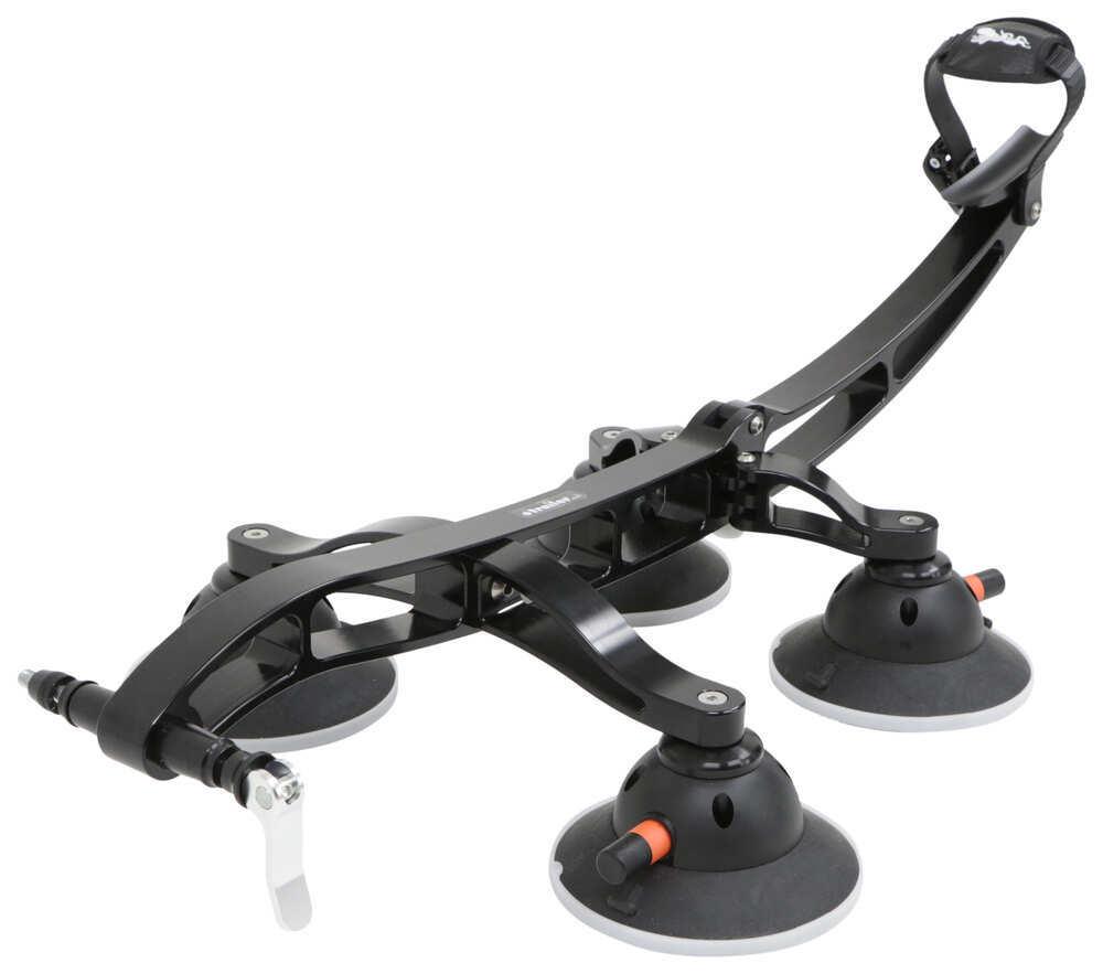 SeaSucker Komodo Trunk Bike Rack - Fork Mount - Vacuum Cup Mounted - Black 1 Bike 298-BK1910-BK