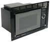 Greystone Built-in Microwave with Trim Kit - 0.9 Cu Ft - Black 0.9 Cubic Feet 324-000105
