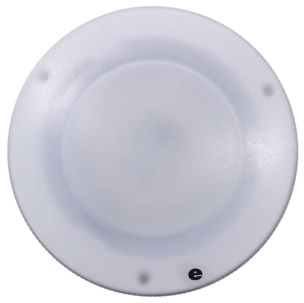 Glantastic LED RV Dome Light - 197 Lumens - Semi-Recessed - Frosted Plastic Lens - Warm white Recessed Mount 328-K-58L34P9
