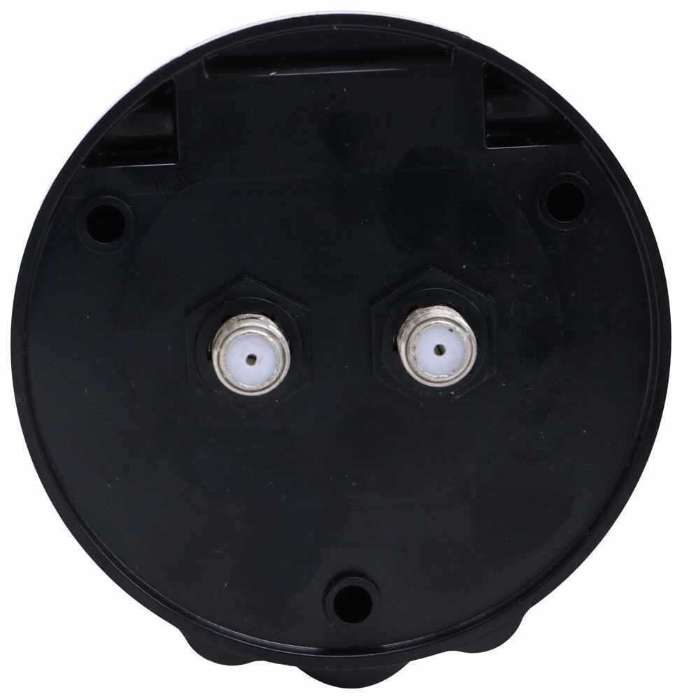 JR Products Black 09-47555 Cable Tv Plate Compact Double