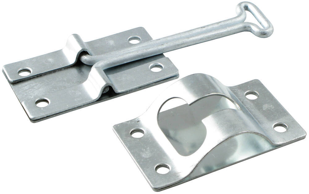 Hook and Keeper for Enclosed Trailer Door - Zinc Plated Hook and Keeper 383400