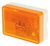 wesbar trailer lights clearance non-submersible led or side marker light w/ reflex reflector - 1 diode white base amber lens