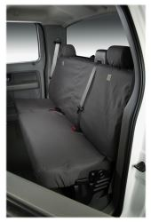 Covercraft SS8377PCGY Custom-Fit Rear-Second Seat Bench SeatSaver Seat Covers Polycotton Fabric Grey