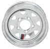 "Steel Spoke Trailer Wheel - 12"" x 4"" Rim - 5 on 4-1/2 - Galvanized Finish 12 Inch AM20134"