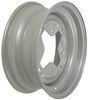 dexstar trailer tires and wheels 15 inch 4 on 9.44 vintage steel wheel w/ +5 mm offset - x 6 rim silver
