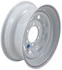 dexstar trailer tires and wheels 15 inch 6 on 5-1/2 steel spoke wheel - x rim white powder coat
