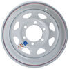 dexstar trailer tires and wheels wheel only 15 inch steel spoke - x 6 rim on 5-1/2 white powder coat