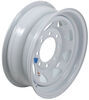 dexstar trailer tires and wheels 16 inch 8 on 6-1/2 steel spoke wheel - x 6 rim white powder coat
