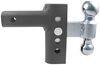 andersen trailer hitch ball mount adjustable drop - 4 inch rise ez steel kit w/ 2 balls or 10 000 lbs