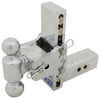 b and w trailer hitch ball mount adjustable drop - 7 inch rise 7-1/2 b&w tow & stow 2-ball 2.5 drop/7.5 14.5k chrome