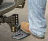 curt hitch step flip-down standard for adjustable channel ball mounts - anti-skid surface