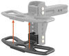 curt hitch step flip-down 16 inch for adjustable channel ball mounts - anti-skid surface