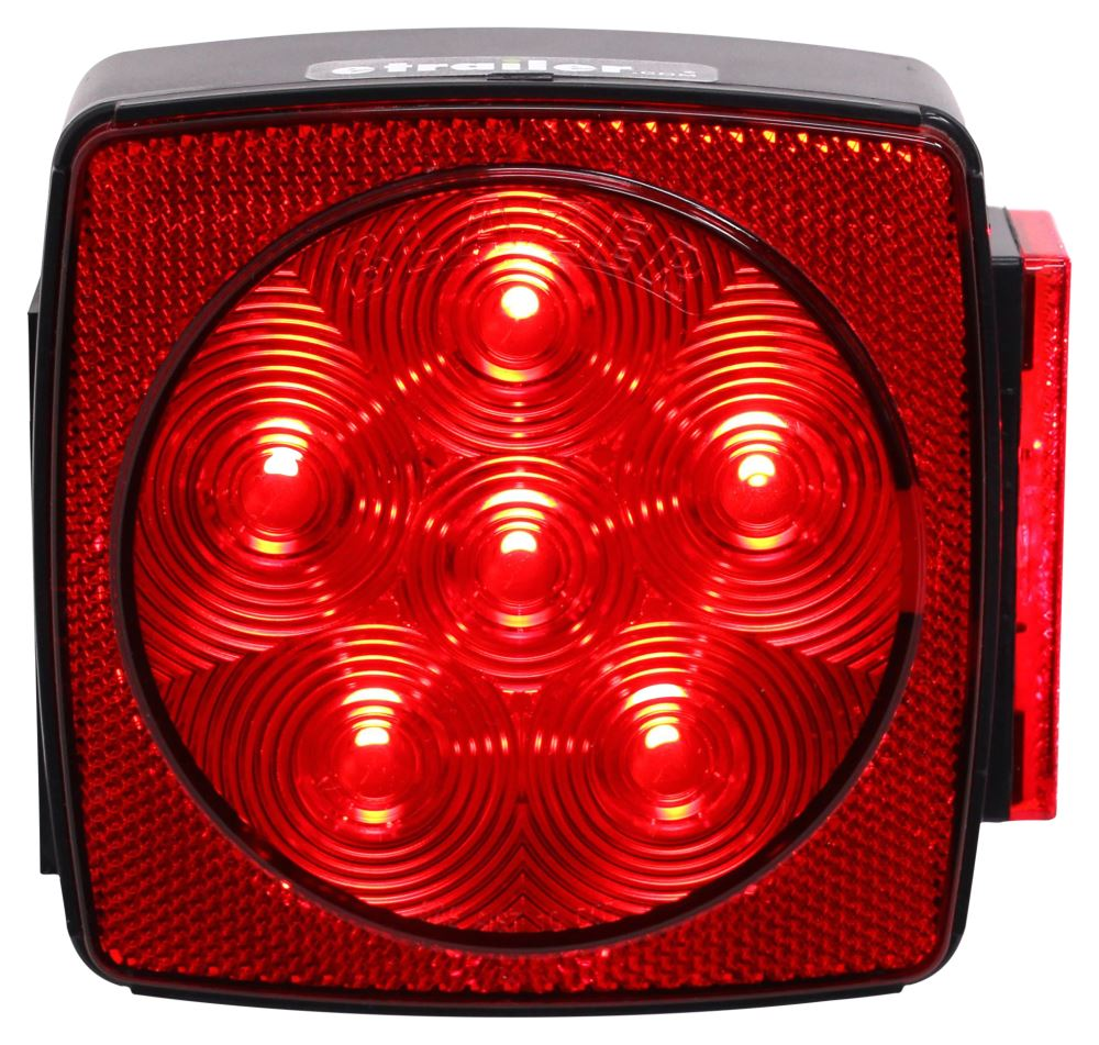 """2 Trailer Square LED Tail Lights Pair Under 80/"""" /& 6 Red Side Marker 1/"""" x 3//4/"""""""