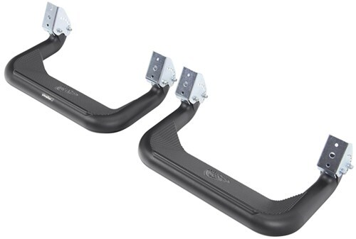 Carrs 125001 Super Hoop No-Drill XP3 Black Powder Coat Pair