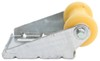 """CE Smith Spool Roller Assembly for Boat Trailers - Galvanized Steel and Yellow TPR - 5"""" Spool Roller Assembly CE10451G"""