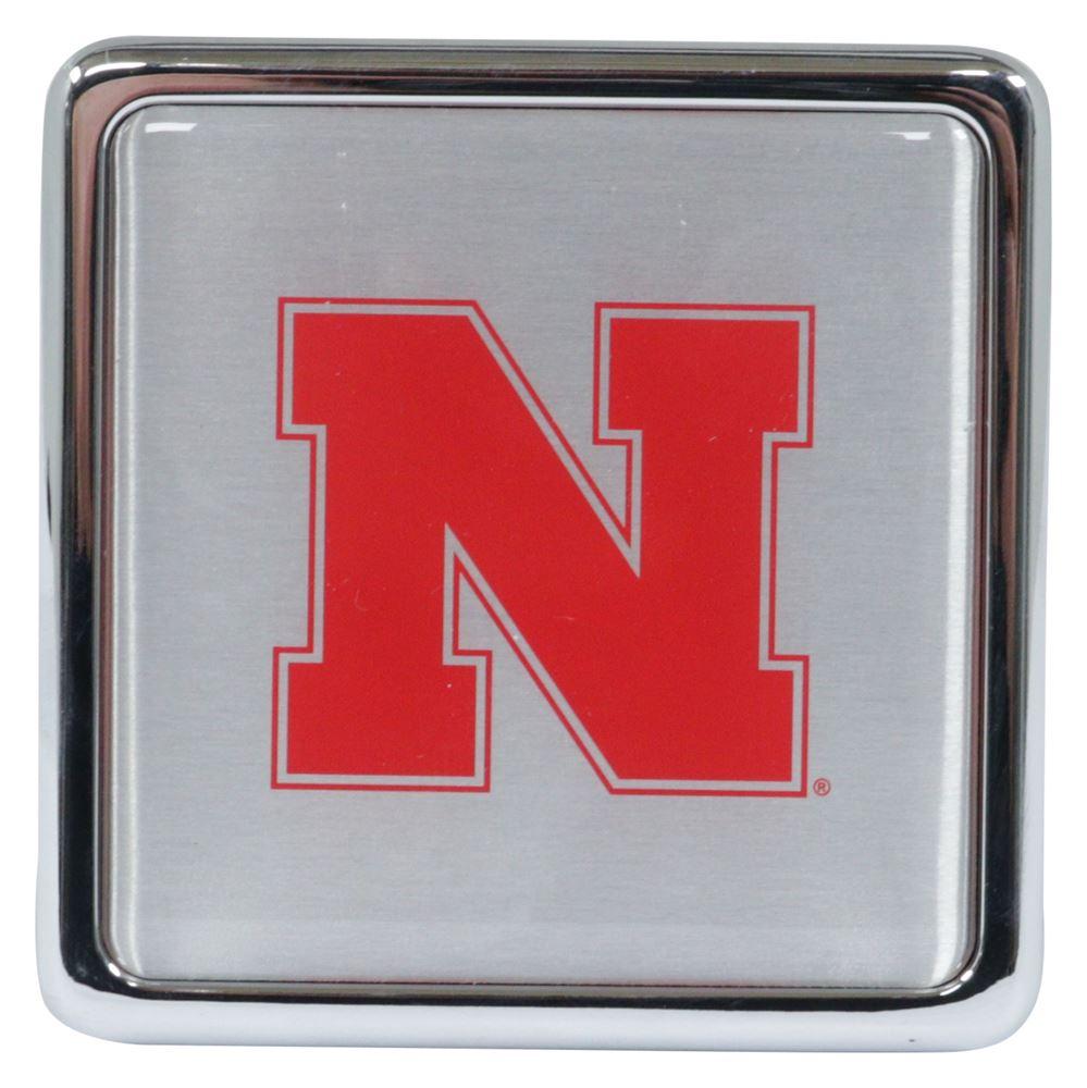 Nebraska Cornhuskers Rubber Trailer Hitch Cover