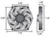 "Derale 7"" Tornado Electric Fan - 400 CFM 400 CFM D16617"