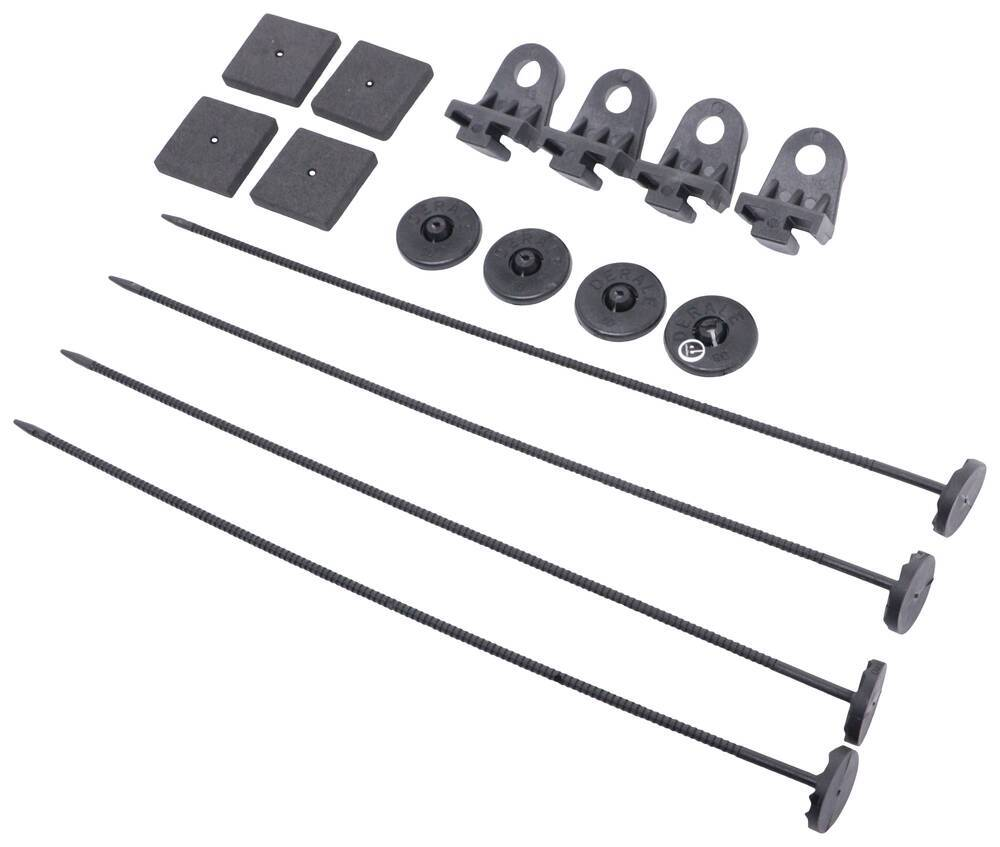 Plastic Rods Derale 16744 Electric Fan Mounting Kit Clips and Mounting Feet