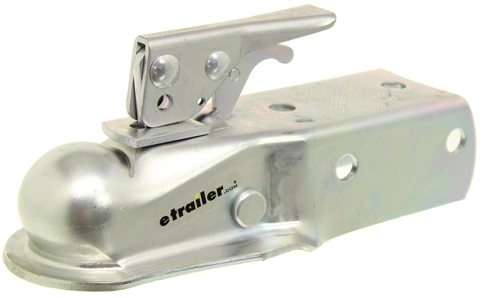 Boat Trailer Coupler for 2 Inch Ball and 3 Inch Wide Channel