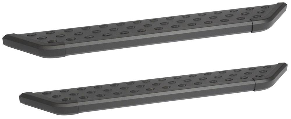 "DeeZee NXt Running Boards w Custom Installation Kit - 6"" Wide - Aluminum - Black Powder Coat Aluminum DZ16321-16327"