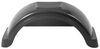 "Fulton Single Axle Trailer Fender with Top Step - Black Plastic - 14"" Wheels - Qty 1 14 Inch Wheels F008554"