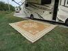0  patio accessories faulkner outdoor mats rv mat - monte carlo beige 9' x 12'