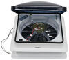 fantastic vent rv vents and fans roof fan-tastic w/ 12v fan - clamp on manual lift 14-1/4 inch x