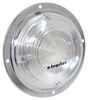 Opti-Brite LED Trailer Dome Light w/ Steel Base - Chrome Plated - 168 Lumens - Round - Clear Lens 6 Inch Diameter ILL91CB