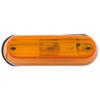 optronics trailer lights non-submersible 3-1/2l x 1w inch clearance or side marker light - incandescent oblong amber lens