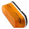optronics trailer lights clearance non-submersible or side marker light - incandescent oblong amber lens