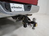 0  trailer hitch ball mount maxxtow adjustable three balls tri-ball for 2 inch hitches - 5-3/4 drop/rise solid shank