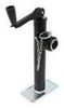 """Pro Series Round, Pipe-Mount Swivel Jack w/ Footplate - Topwind - 10"""" Lift - 2,000 lbs 10 Inch Lift PS1400400303"""