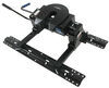pro series fifth wheel hitch sliding double pivot 5th w/ square tube slider rails and install kit - slide bar jaw 15 000 lbs