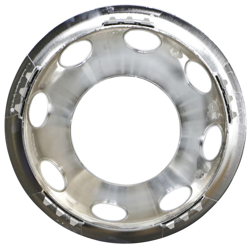 "15/"" Chrome Trailer Wheel Ring set of 2 Cap 2 piece Covers SHARP!!"