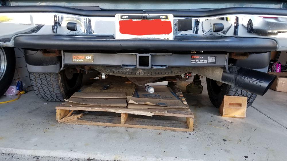 CURT 15302 Xtra Duty Trailer Hitch with 2-Inch Receiver for Select Chevrolet Silverado GMC Sierra 2500