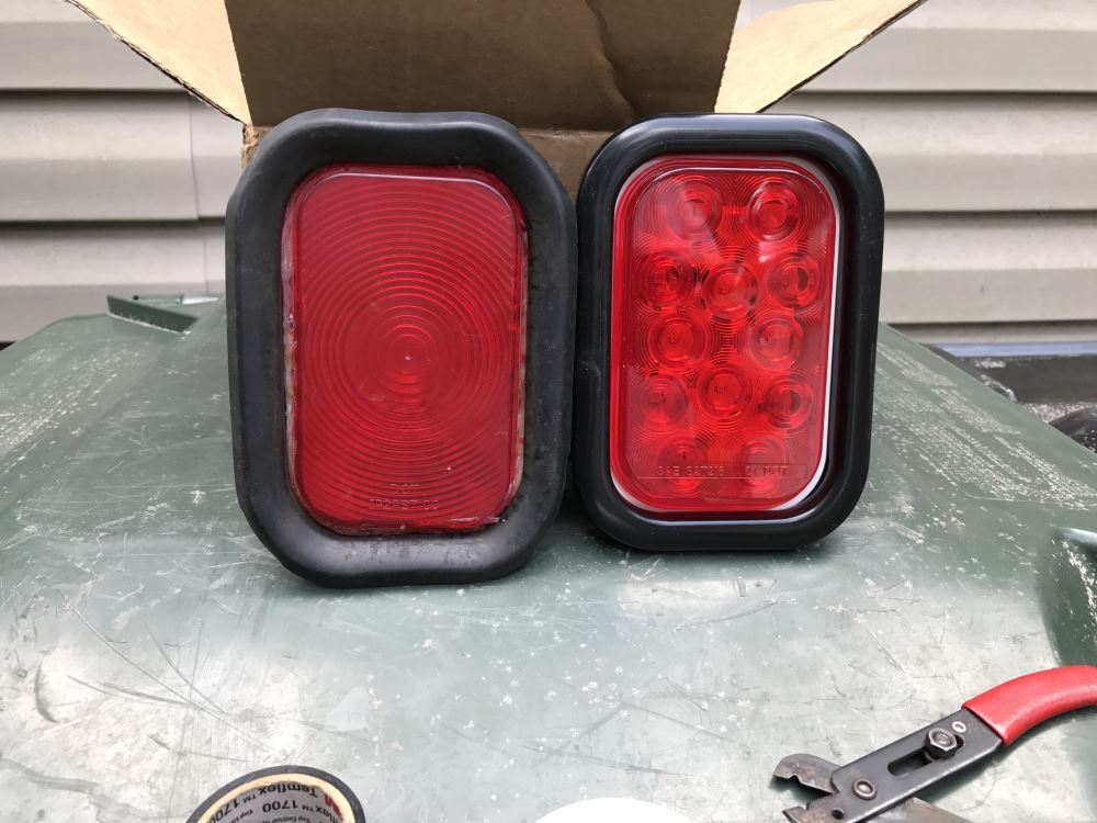 Trailer Tail Light #STL-34RB LED Rectangular Red Vehicle