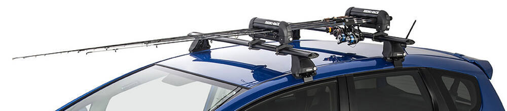 NEW Ramp King Roof Rack Mount Fishing Rod 4 Ski 2 Snowboard Carrier Holder w//Key