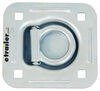 """Brophy D-Ring Tie Down Anchor w Backing Plate - Bolt-On - 1/2"""" Wide - Recessed - 1,600 lbs D-Ring RR5K"""