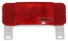 RV Tail Light - Stop, Tail, Turn, License Plate - Rectangle - Red Lens - Driver Side - White Base 8-1/2L x 3W Inch RVST61