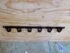 "6 Slot Tool Rack - Black Powder Coated Steel - 33-1/2"" Long 6 Tools TH6B"