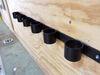 "6 Slot Tool Rack - Black Powder Coated Steel - 33-1/2"" Long Multi-Tool Rack TH6B"