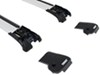 thule roof rack complete systems aeroblade edge for raised factory side rails - aluminum silver